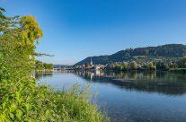 Stein am Rhein- Die Stadt liegt nördlich des Rheins auf etwa 413 m ü. M