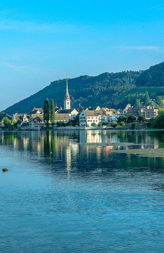 Sommermorgen am  Untersee bei  Stein am  Rhein