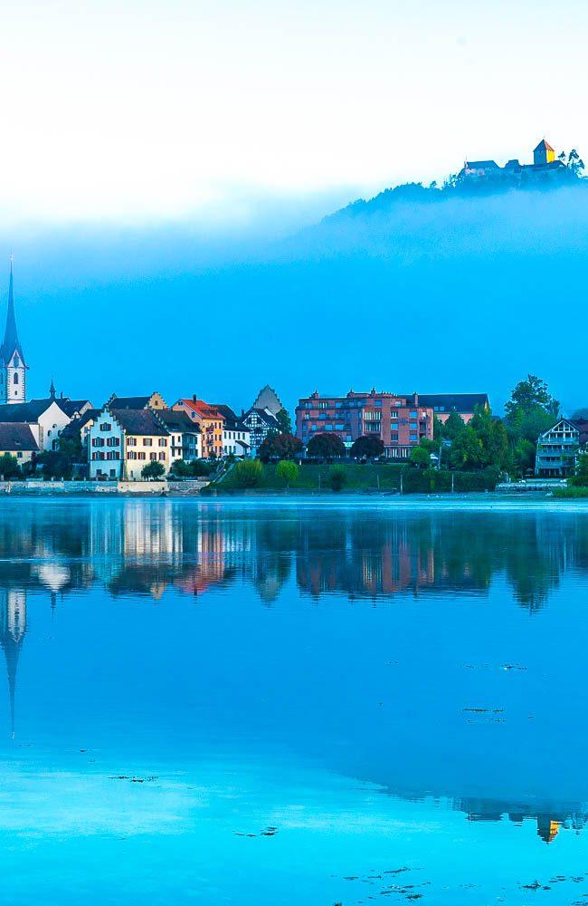 Stein am Rhein -Der Ort wird erst 1267 erstmals als Stadt urkundlich erwähnt.