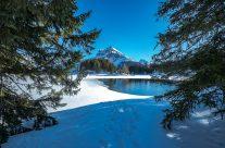 Im Winter ist auf der tief verschneiten Sonnen-terrasse Arni hoch über dem Reusstal ein gut präparierter Spazierweg angelegt