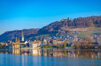 Stein am  Rhein  Der Ort wird erst 1267 erstmals als Stadt urkundlich erwähnt.