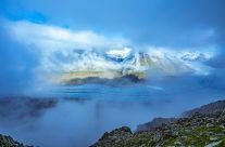 Die Länge des Gletschers beträgt 22,75 km